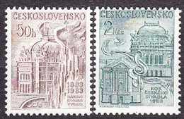 CZECHOSLOVAKIA 1983, Complete Set, MNH. Michel 2735-2736. 100 YEARS OF NATIONAL THEATRE. Good Condition, See The Scans.