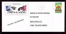 Lettre PAP Pret A Poster TSC Bureau Du Service National De Toulouse Meilleurs Voeux Chalet Fond Vert - Entiers Postaux