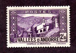 Andorre  N°83 N** ( Adhérences) TB Cote  138 Euros !!!