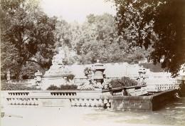 France Nîmes Jardins De La Fontaine Nymphée Ancienne Photo Jusniaux 1895 - Photographs