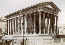 France Nîmes La Maison Carrée Temple Romain Hexastyle Ancienne Photo Jusniaux 1895 - Oud (voor 1900)