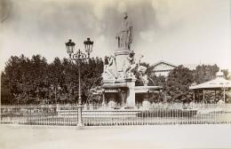 France Nîmes La Fontaine Pradier Ancienne Photo Jusniaux 1895 - Oud (voor 1900)