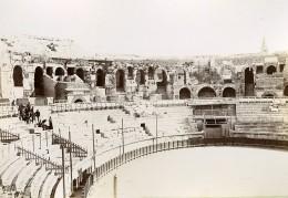 France Nîmes Les Arènes Interieur Ancienne Photo Jusniaux 1895 - Photographs