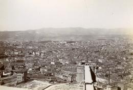 France Marseille Panorama Depuis Notre Dame De La Garde Ancienne Photo Jusniaux 1895 - Old (before 1900)
