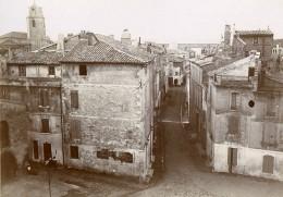 France Arles Rue Etroite Et Pont Vue Prise Des Arènes Ancienne Photo Jusniaux 1895 - Photographs