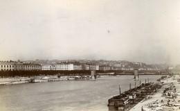 France Lyon Le Rhone Et Basilique Saint-Martin D'Ainay Deux Anciennes Photos Jusniaux 1895