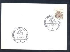 Germany Deutshcland 1967 Card: Cavallo Horse Pferd Cheval: International Reitturnier Frankfurt; Equestrian Sport