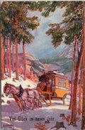 USABAL - Attelage Traineau  Dans Paysage De Neige  (Malle Poste)  Viel Glück Im Neuen Jahr   (95263) - Usabal