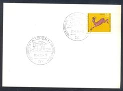 Germany Deutshcland 1966 Card: Cavallo Horse Pferd Cheval: 30 International Reitturnier Aachen; Equestrian Sport