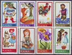 Polen Polska 1968: Polnische & Deutsche Märchen Michel-Nr.1828-1835 ** MNH