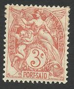 Port Said, 3 C. 1902, Sc # 20, Mi # 20, MH - Ungebraucht