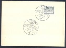 Germany Deutschland 1963 Card: Cavallo Horse Pferd Cheval: Equestrian; Internatinal Spring Championat Aachen