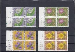 Suisse - Neuf** - Pro Juventute - Année 1991 - YT 1383/86 - Blocs De 4