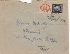 LETTRE .   1949 ROANNE LOIRE .   831 SEUL SUR LETTRE  / 95 - 1921-1960: Moderne