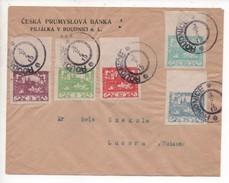 Czechoslovakia 1919, Roudnice Nad Laben. Multiple Hradcany Franking To Luzern, Suisse/Switzeland - Interesting