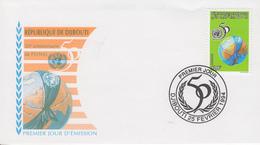 Enveloppe  FDC  1er  Jour   DJIBOUTI    50éme  Anniversaire  De  L' O.N.U   1994