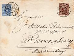 1898 Envelop G6 Bijgefrankeerd Met NVPH 36 Van Rotterdam Naar Ravensburg