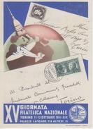 """CARTOLINA-""""XV GIORNATA FILATELICA NAZIONALE-TORINO 11-12 OTTOBRE 1941""""-CONFEDERAZIONE FASCISTA DEI COMMERCIANTI - Poststempel"""