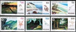 Polen Polska 1976: Nationalparks & Tiere Michel-Nr. 2445-2450 ** MNH