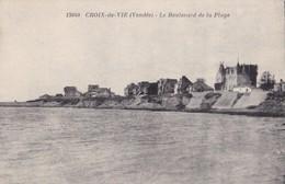 CROIX DE VIE. - Le Boulevard De La Plage. Cliché Rare - Saint Gilles Croix De Vie