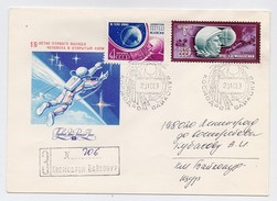 SPACE Used Mail Cover USSR RUSSIA Baikonur Baikonour PROGRESS-18 Sputnik Rocket Gagarin