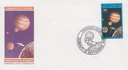 Enveloppe  FDC  1er  Jour   DJIBOUTI    Conquête  De  L' Espace   1993