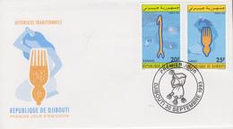 Enveloppe  FDC  1er  Jour   DJIBOUTI    Ustensiles   Traditionnels   1993