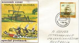 PAPOUASIE. Aramia River Canoë ,Gogodala Canoe Ornament, Letter Addressed To Australia