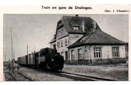1964  -- 67 BAS RHIN ALSACE  --   TRAIN VAPEUR EN GARE DE DRULINGEN   3C.184 - Collections