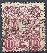 """Germania  - 1875 Aquila 10p Carminio """"PFENNIGE"""" # Michel 33 - Scott 31 - Yvert 32 - Usato - Deutschland"""
