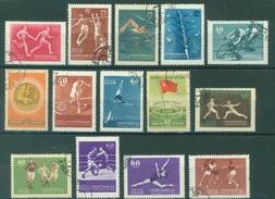 URSS - 1956 - USED/OBLIT. - SPORTS - Mi 1849-1862 Yv 1829-1842 - Lot 15232