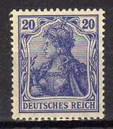 Deutsches Reich, 1915/19, Mi  87 II, ** [180217L] - Ungebraucht