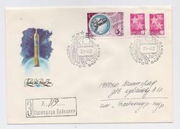 SPACE Used Mail Cover USSR RUSSIA Baikonur Baikonour COSMOS-1355 Sputnik Rocket Parachute Venus