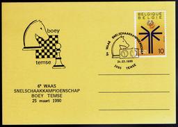 Schaken Schach Chess Ajedrez - Belgie Belgium - Temse 24.03.1990 - Echecs