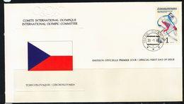 Tschechoslowakei, FDC Olympische Winterspiele, Lake Placid MiNr. 2544, 1980 SSt