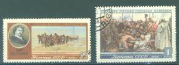 URSS - 1956 - USED/OBLIT. - REPIN PAINT - Mi 1865-1866 Yv 1849-1850 - Lot 15233