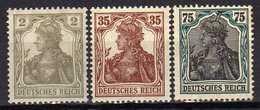 Deutsches Reich, 1918/1919, Mi 102 -104 * [180217L]