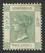 Hong Kong, 2 C. 1900, Sc # 37, M # 55, MH - Hong Kong (...-1997)