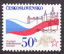 CZECHOSLOVAKIA 1984, Complete Set, MNH. Michel 2748. NATIONAL FLAG. Good Condition, See The Scans.