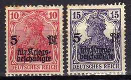 Deutsches Reich, 1919, Mi  105-106 */(*) [180217L]