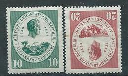 DDR  1959  Mi 684 - 685  100. Todestag Von Alexander Von Homboldt Postfrisch