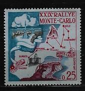 MONACO -  Mi-Nr. 642 - 29. Rallye Monte Carlo Postfrisch - Monaco