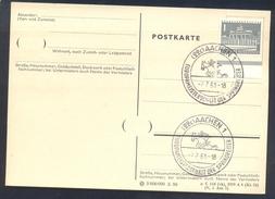 Germany Deutschland 1961 Card: Cavallo Horse Pferd Cheval Equestrian; Europa Jumping Championship; Europamisterschaft