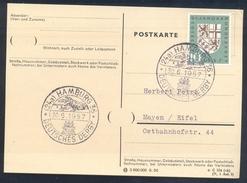 Germany Deutschland 1957 Card: Cavallo Horse Pferd Cheval Equestrian; Galloprennen Deutsches Derby Hamburg