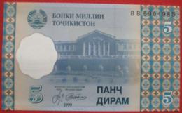 5 Diram 1999 (WPM 11a) - Tadschikistan