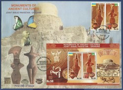 PAKISTAN MNH 2014 FDC FIRST DAY COVER JOINT ISSUE WITH UKRAINE MOUNMENTS OF ANCIENT CULTURES MOEN JO DARO TRYPILLIA
