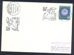 Germany Deutschland 1964 Card: Cavallo Horse Pferd Cheval Equestrian; Reit Und Spring Turnier Iserlohn Jumping Slogan