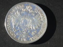 AUTRICHE 1 Florin 1888 Argent F-Joseph 1ere Avec Certificat