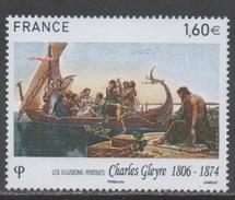 FRANCE, 2016, MNH, ART, PAINTING, SHIPS, CHARLES GLEYRE,1v
