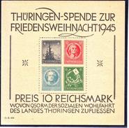 GERMANIA DEUTSCHLAND SBZ ZONA SOVIETICA THURINGENBLOCK  1945 GROSSE WEIHNACHTSBLOCK  MNH**